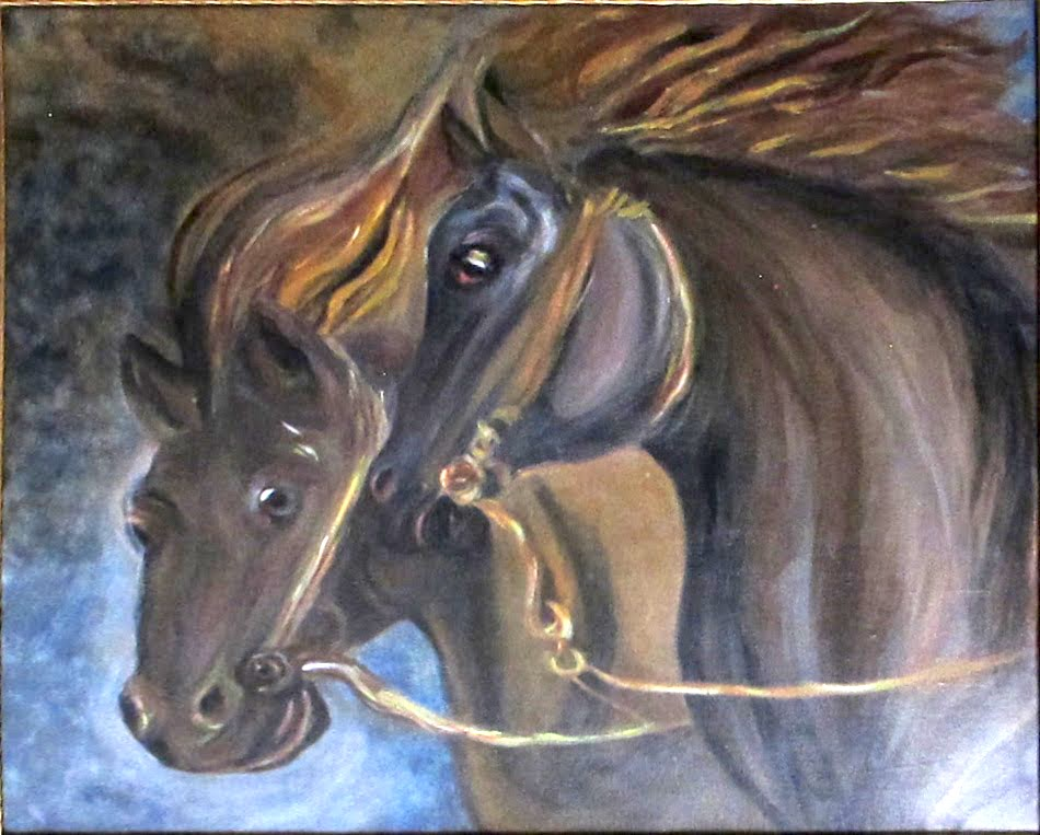 Deux chevaux bais