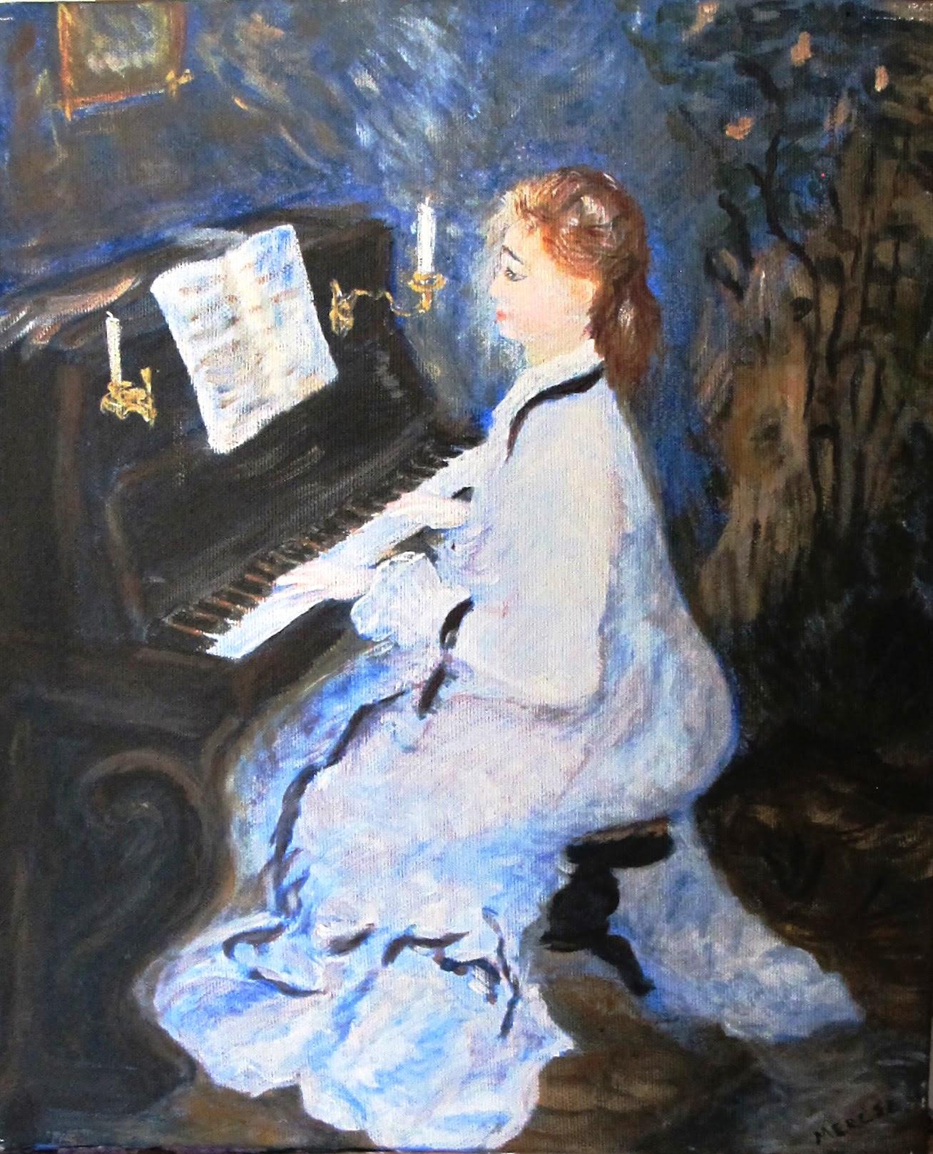 Jeune femme au piano