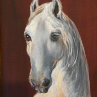 Peinture cheval mélancolique - Mérèse